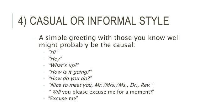 Types of speech styles informal speech 19 m4hsunfo