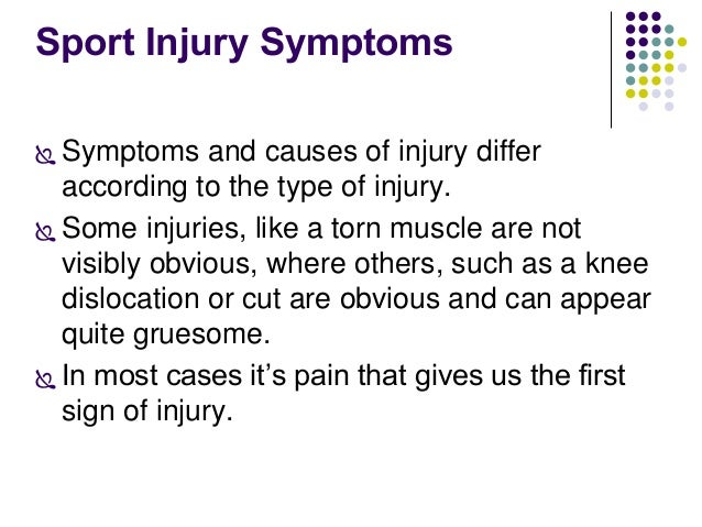 the different types of sports injuries Below are several descriptions of the type of pain you may feel, and shoulder injuries associated with these descriptions of course, it is recommended to see your.