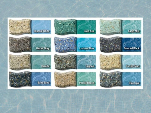 Types of surfaces in swimming pool