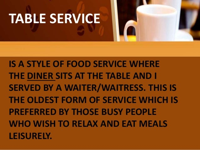TABLE ... & Types of table service