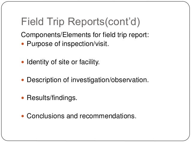 technical visit report format | Template