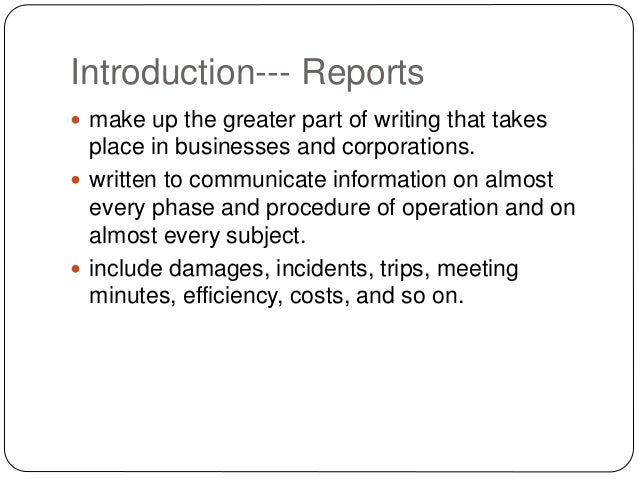 Types of technical reports Slide 3