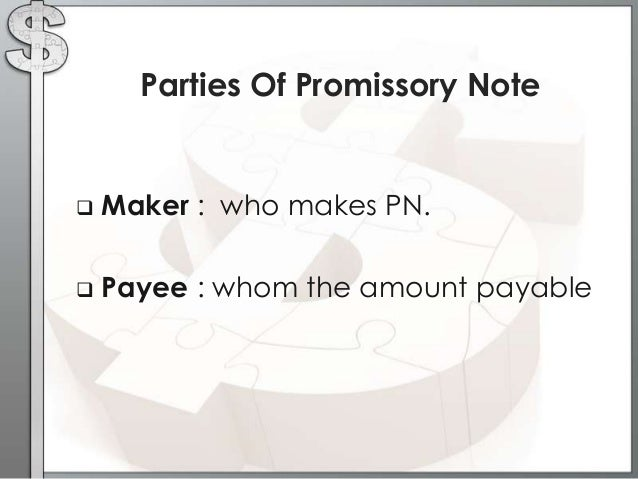 Exceptional Parties Of Promissory Note ... Inside Parties Of Promissory Note