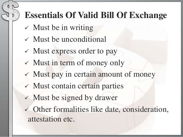 Types of the negotiable instruments payee whom the amount payable 14 essentials of valid bill of exchange altavistaventures Image collections