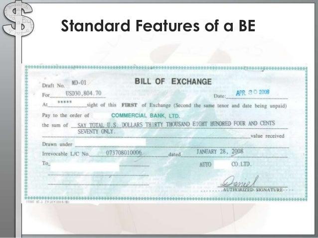 SlideShare  Bill Of Exchange Sample