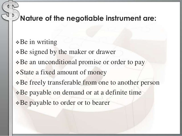 negotiable instruments ppt