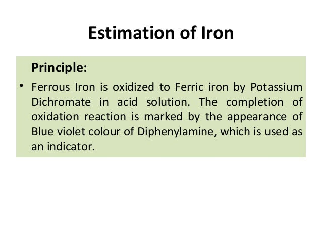 Permanganometric titration of iron (II)