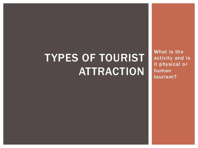What is the  activi ty and is  i t physical or  human  tourism?  TYPES OF TOURIST  ATTRACTION