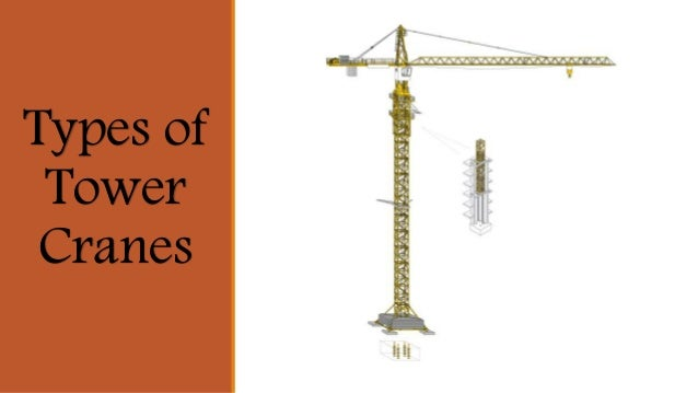 What Are The Different Types Of Cranes : Types of tower cranes in uae