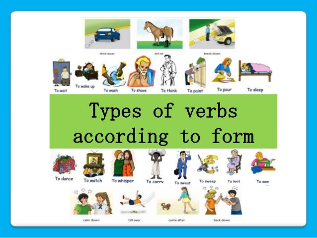 verbs and types of verbs pdf