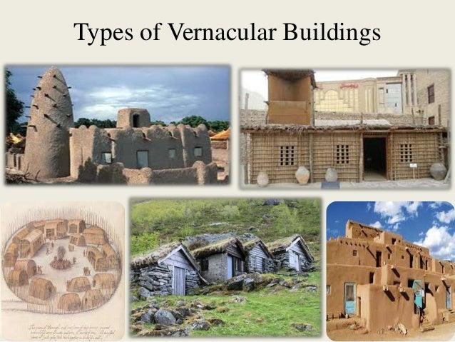 Types of vernacular buildings