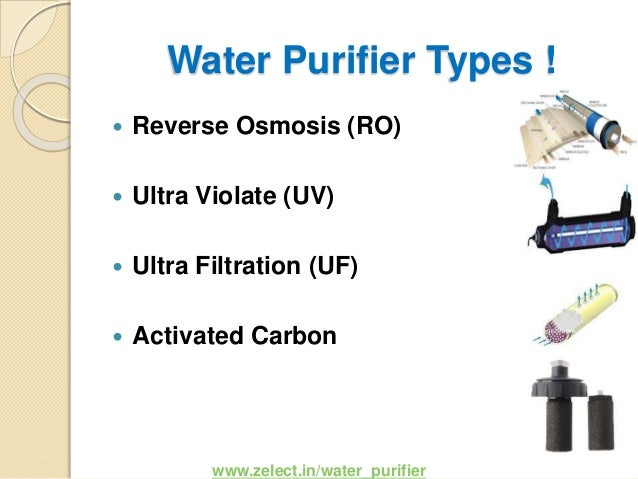 Types of water purifiers for All types of water