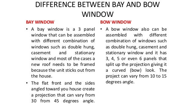 the differences between bay and bay window 6 differences