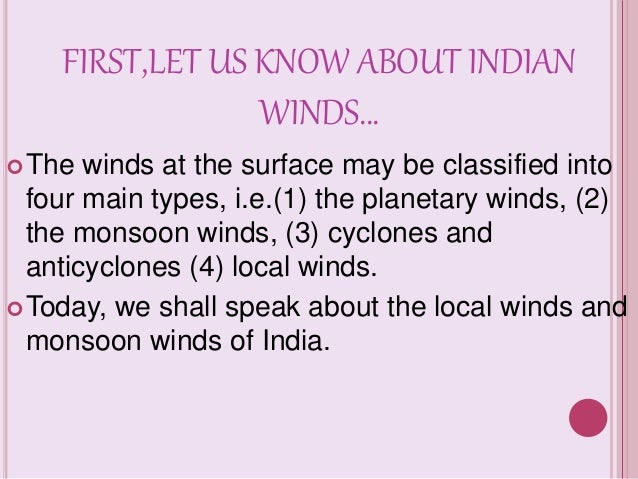 monsoon winds in india