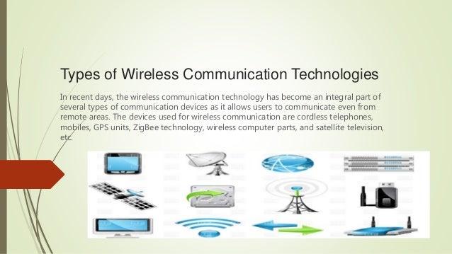 Types of wireless communication technologies