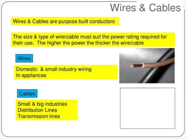 types of wires and cables rh slideshare net types of electrical wiring cables types of electrical wiring cables