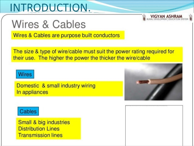 Types of wires and cables