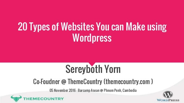 20 types of websites you can make using wordpress