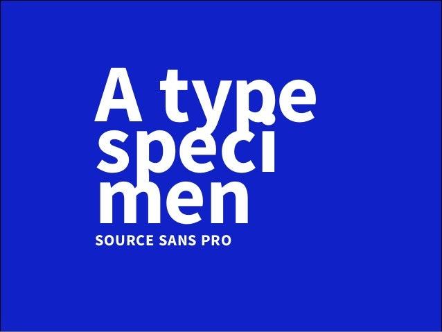A typespecimensource sans pro