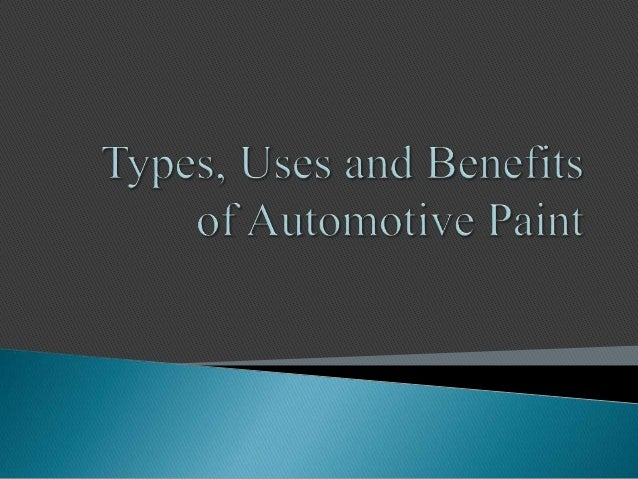 Automotive paint resins made from chemical compounds that are lacquer, urethane, water based and enamel. Lacquer paints ar...
