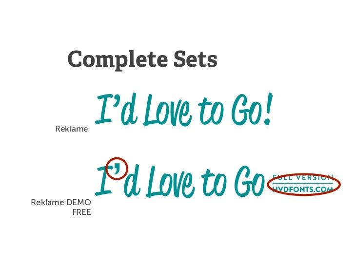 Complete Sets     Reklame                I'd Love to Go!Reklame DEMO         FREE                I'd Love to Go!