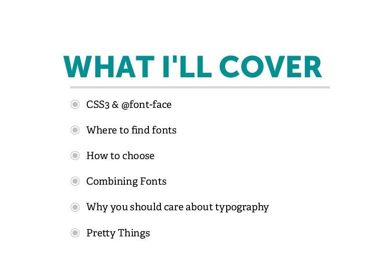 Web Typography for Front End Developers Slide 3