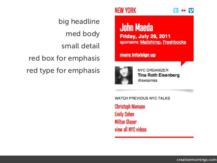 big headline           med body          small detailred box for emphasisred type for emphasis                         cre...