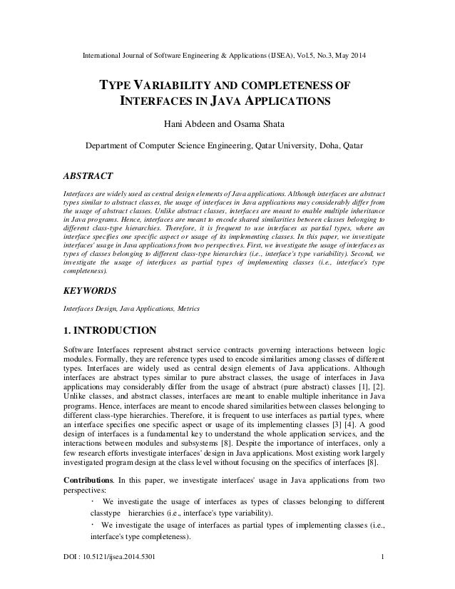 International Journal of Software Engineering & Applications (IJSEA), Vol.5, No.3, May 2014 DOI : 10.5121/ijsea.2014.5301 ...
