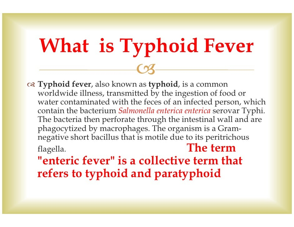 Enteric fever - Part 2 - Widal test for typhoid Fever