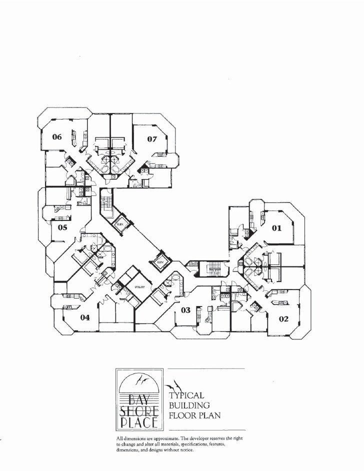 Typical Floor Plan In Bay Shore Place At Park Shore Beach Site Plan N