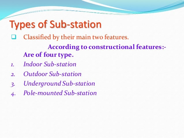 Typical Layout Of A Sub Station