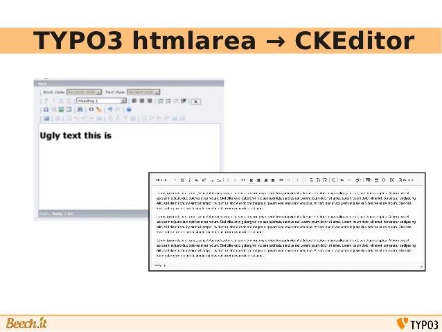TYPO3 CKEditor for integrators