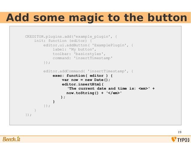 TYPO3 create a CKEditor plugin