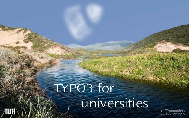 TTYYPPOO33 ffoorr  uunniivveerrssiittiieess