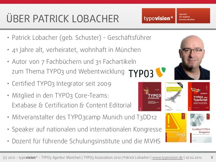 Die typo3 association 2012 mtug patrick lobacher for Freelancer agentur munchen