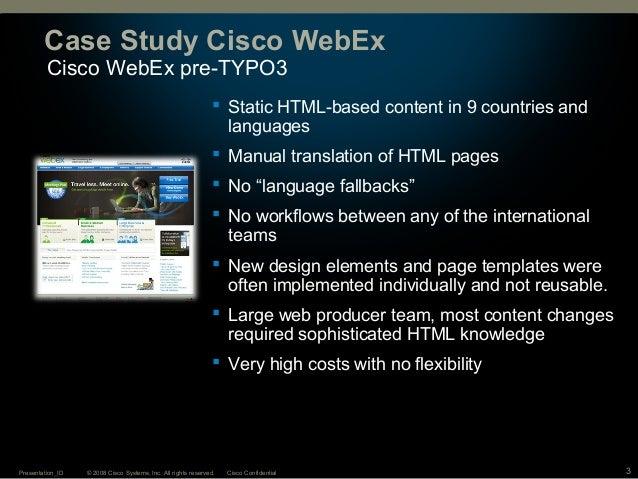 Open Source CMS TYPO3 at Cisco WebEx
