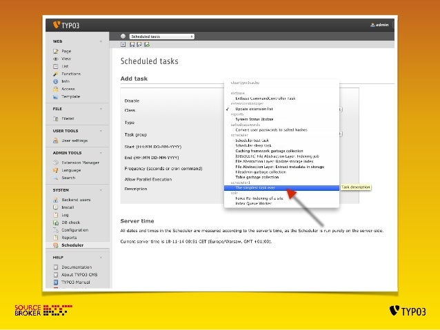 SIMPLE EXT WITH SCHEDULER TASK VII  Autmaticaly disable task  Classes/Task/SampleTask.php  <?php  !  namespace VScheduler7...