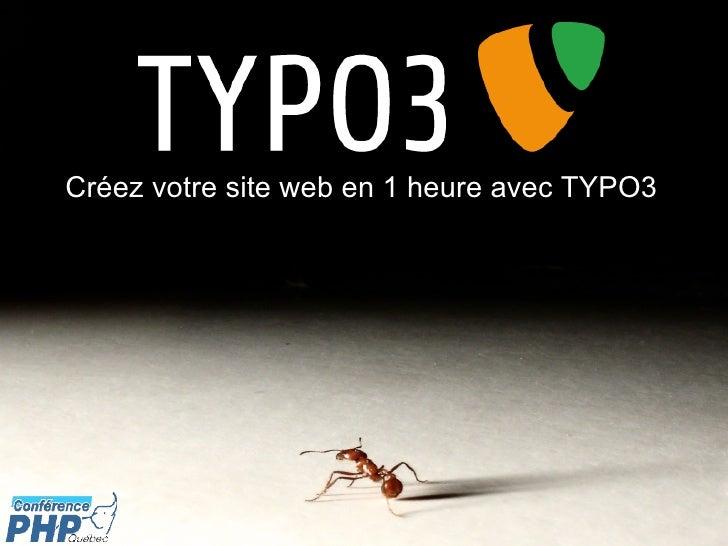 Créez votre site web en 1 heure avec TYPO3