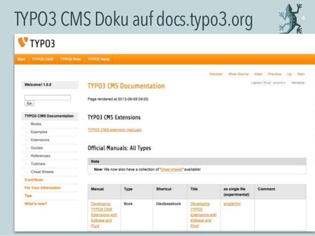 TYPO3CMSDokuaufdocs.typo3.org 4