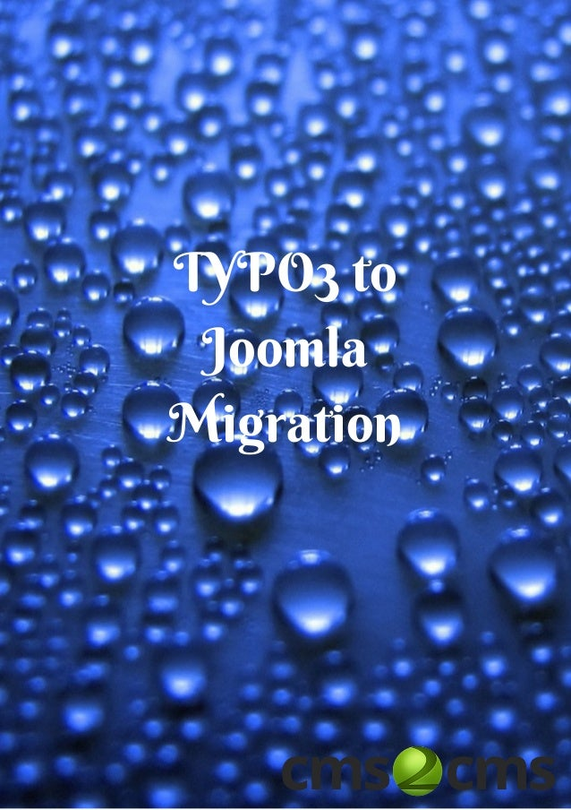 TYPO3 to Joomla Migration