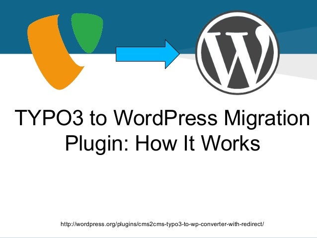 TYPO3 to WordPress Migration Plugin: How It Works  http://wordpress.org/plugins/cms2cms-typo3-to-wp-converter-with-redirec...