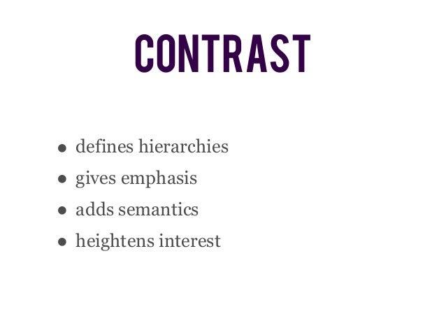 typographic contrast