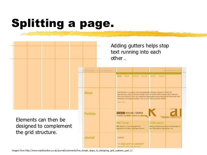 Splitting a page