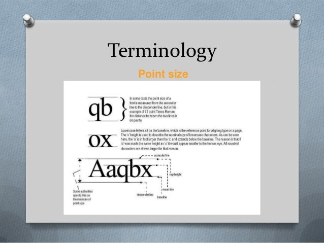 Terminology   Point size