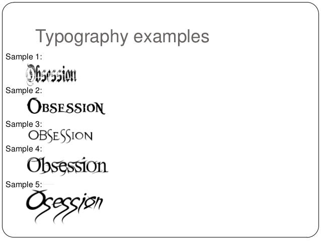 Typography - Obsession