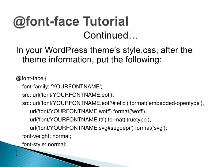 It is a matter of preference        @font-face                    Cufón Text                                     Replaceme...