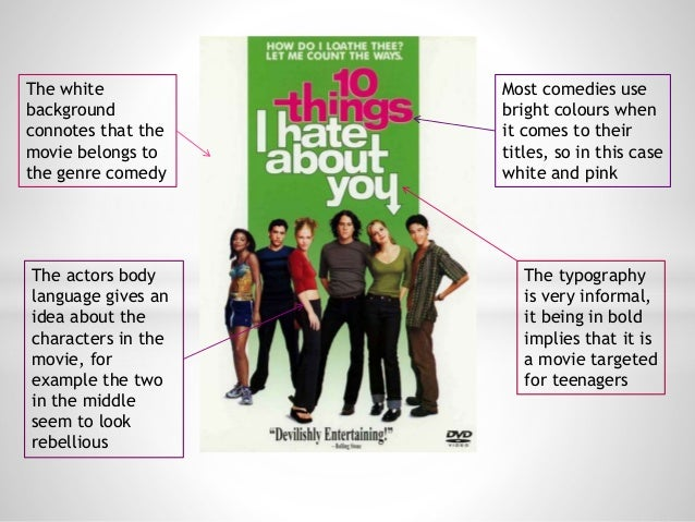 The white background connotes that the movie belongs to the genre comedy The actors body language gives an idea about the ...
