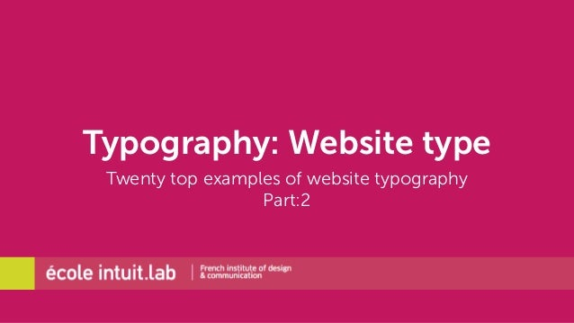 Typography: Website type  Twenty top examples of website typography  Part:2