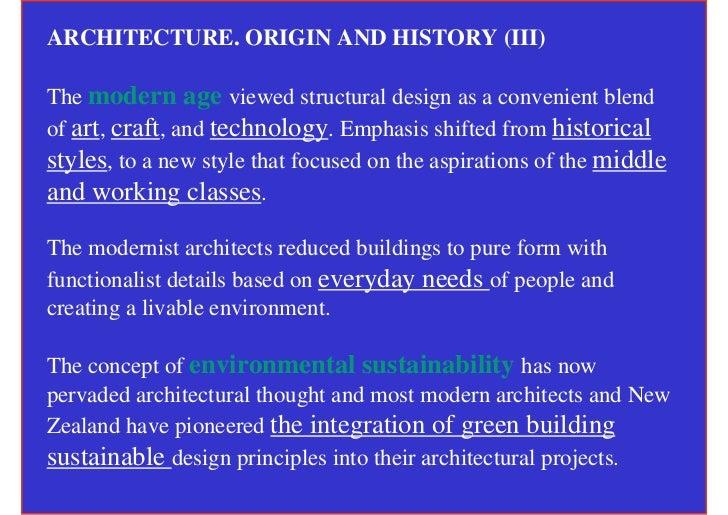 Modern Architecture Origin typologies