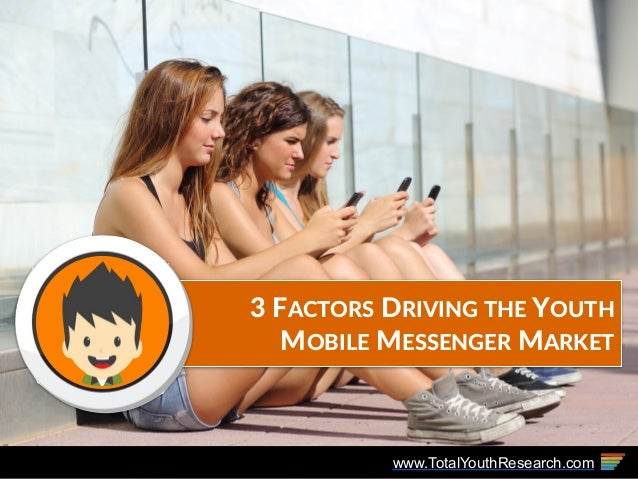 www.TotalYouthResearch.com 3 FACTORS DRIVING THE YOUTH  MOBILE MESSENGER MARKET
